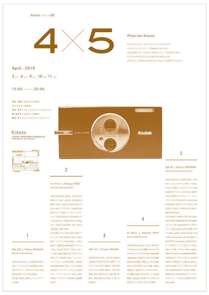 4×5 hitoto Photo Jam Session